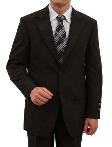 2 Button Black Front Closure Fit Suit Mens Cheap