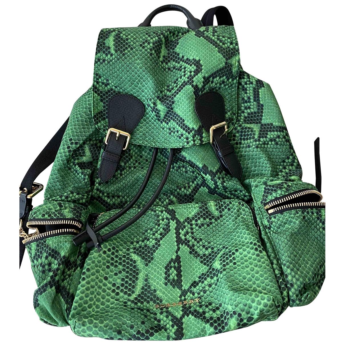 Burberry - Sac a dos The Rucksack pour femme en toile - vert