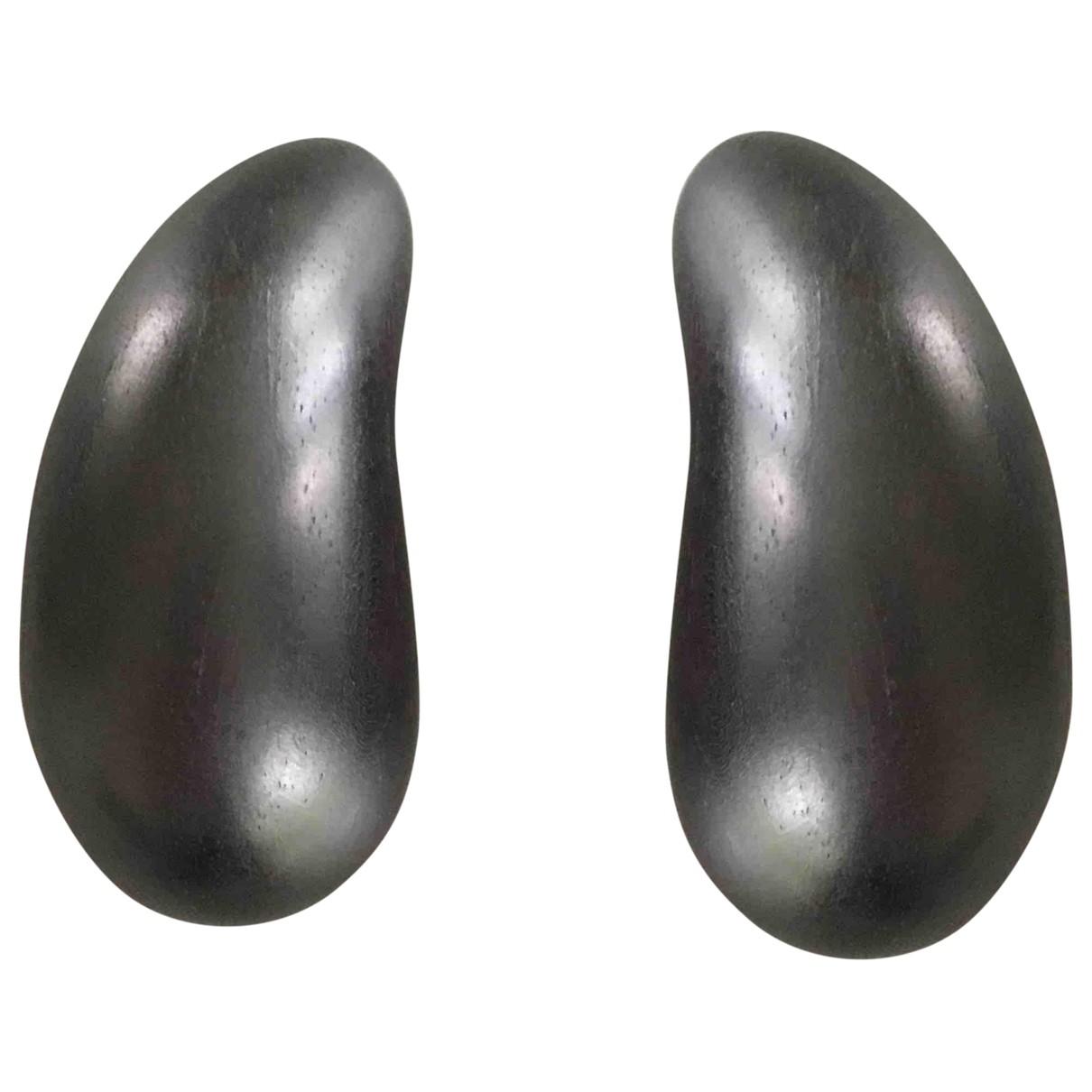 Monies \N Brown Wood Earrings for Women \N