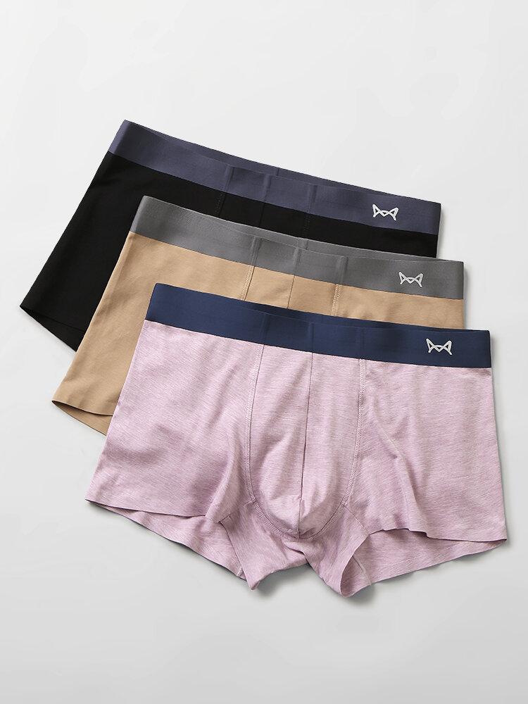 Cotton Multipacks Pure Color Seamless Underpants Comfortable Boxer Briefs