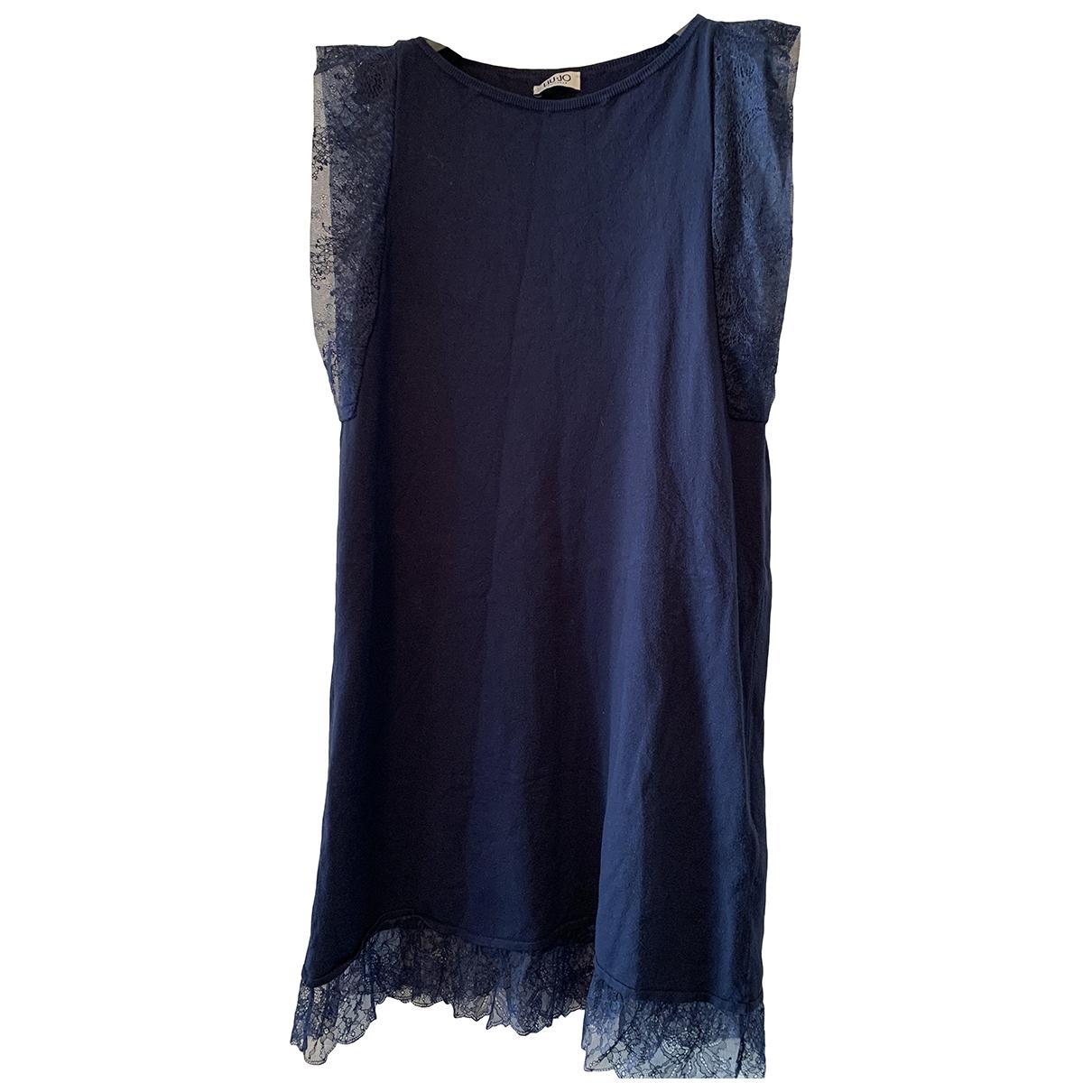 Liu.jo \N Kleid in  Blau Baumwolle - Elasthan