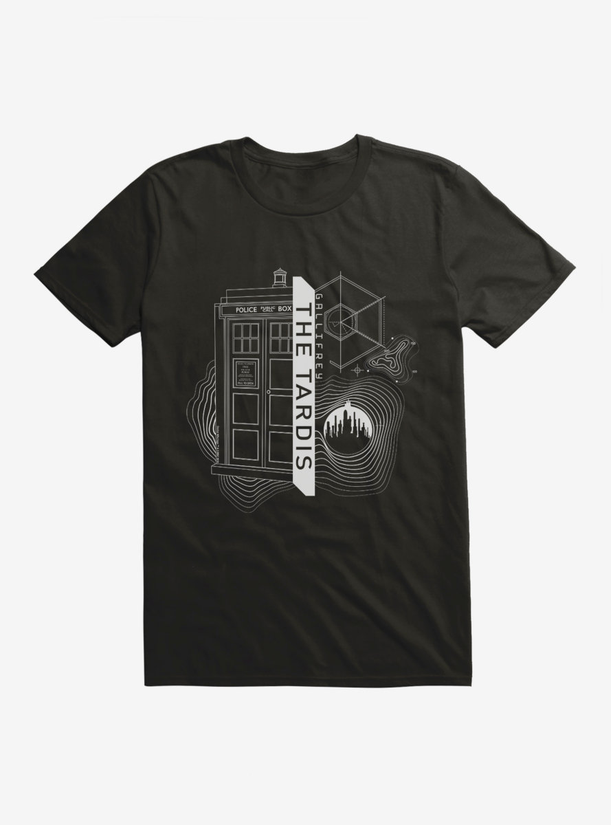 Doctor Who TARDIS Outline Specs T-Shirt