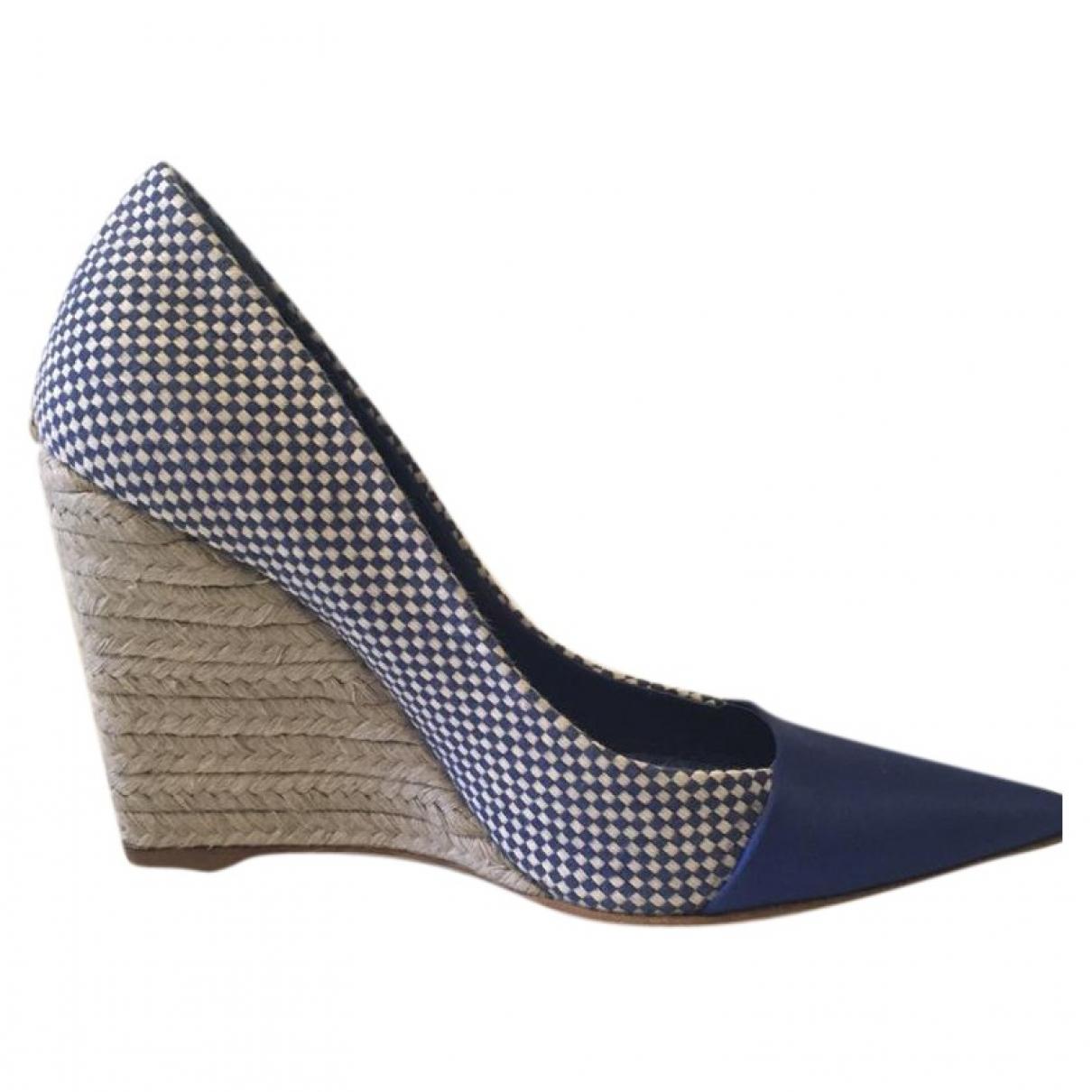 Dior - Espadrilles   pour femme en toile - bleu