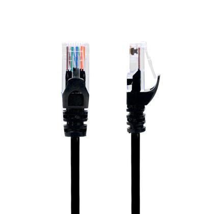 Câble mince Cat6 UTP 28AWG pour réseau ethernet CMR/FT4 Noir - PrimeCables® GoSlim - 4pi