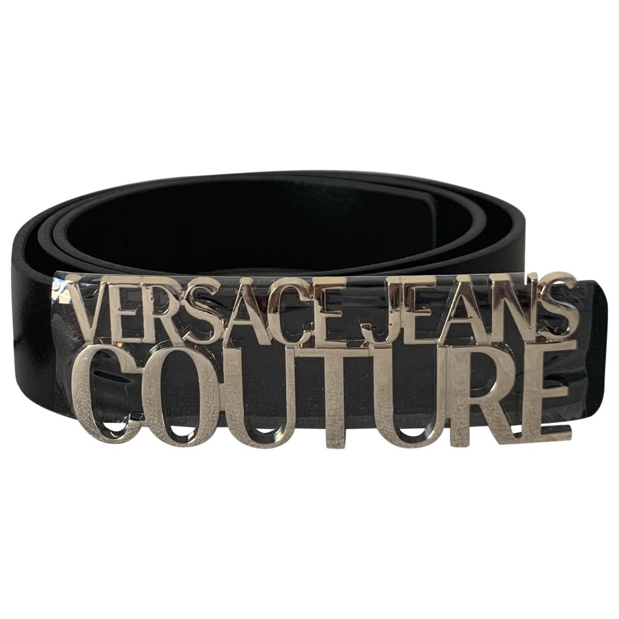 Versace Jeans \N Black Leather belt for Women M International