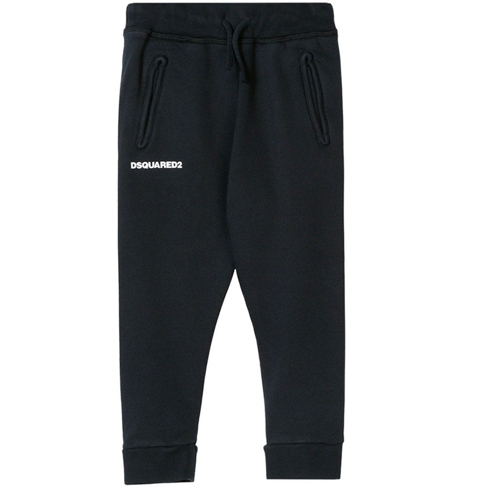Dsquared2 Kids Logo Print Joggers  Colour: NAVY, Size: 10 YEARS