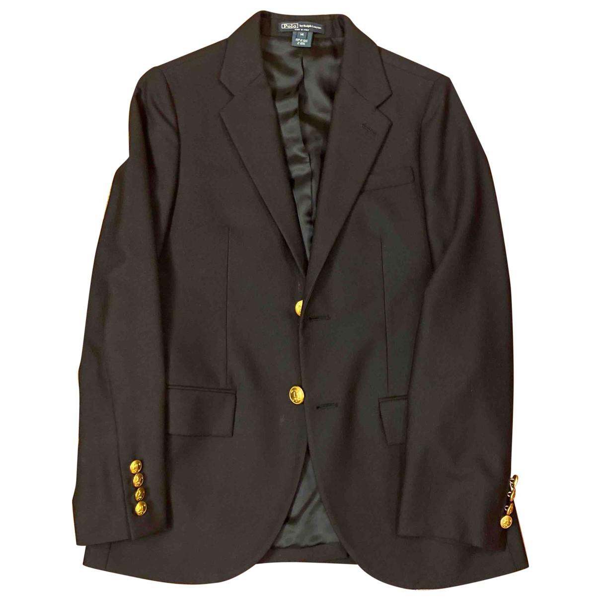 Polo Ralph Lauren - Blousons.Manteaux   pour enfant en laine - marine