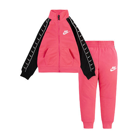 Nike Baby Girls 2-pc. Track Suit, 24 Months , Pink