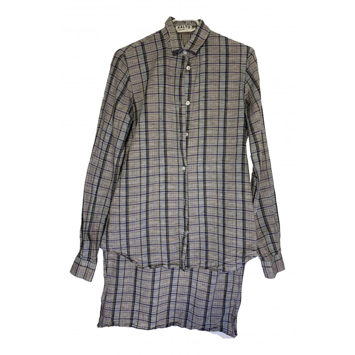 Aalto - Top   pour femme en coton - gris