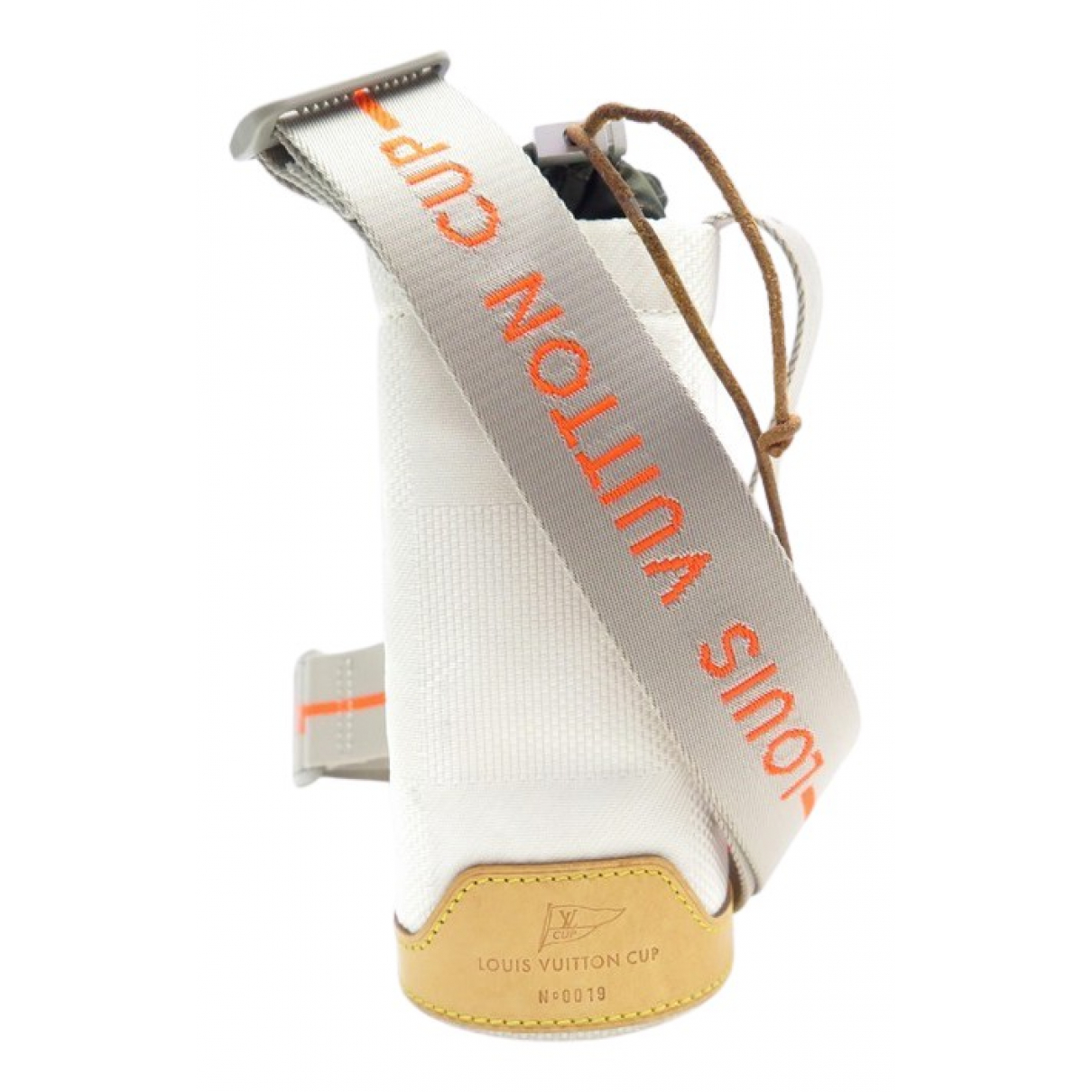 Louis Vuitton \N Clutch in  Weiss Leinen