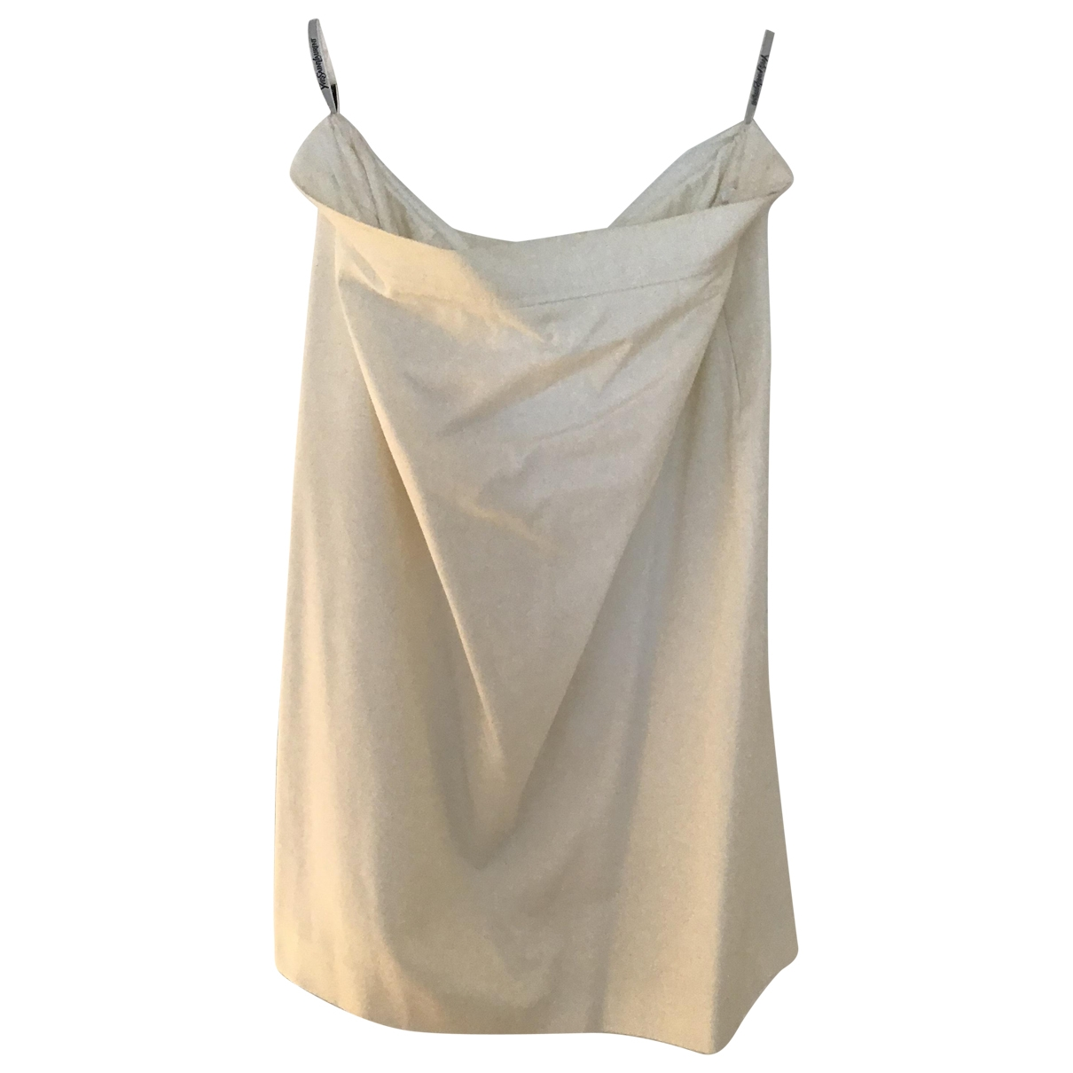 Yves Saint Laurent \N White Cotton skirt for Women 40 FR