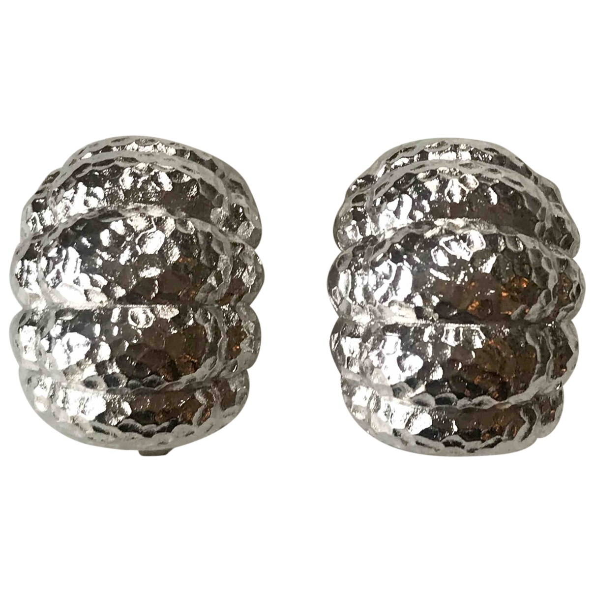 Dior - Boucles doreilles   pour femme en metal - argente