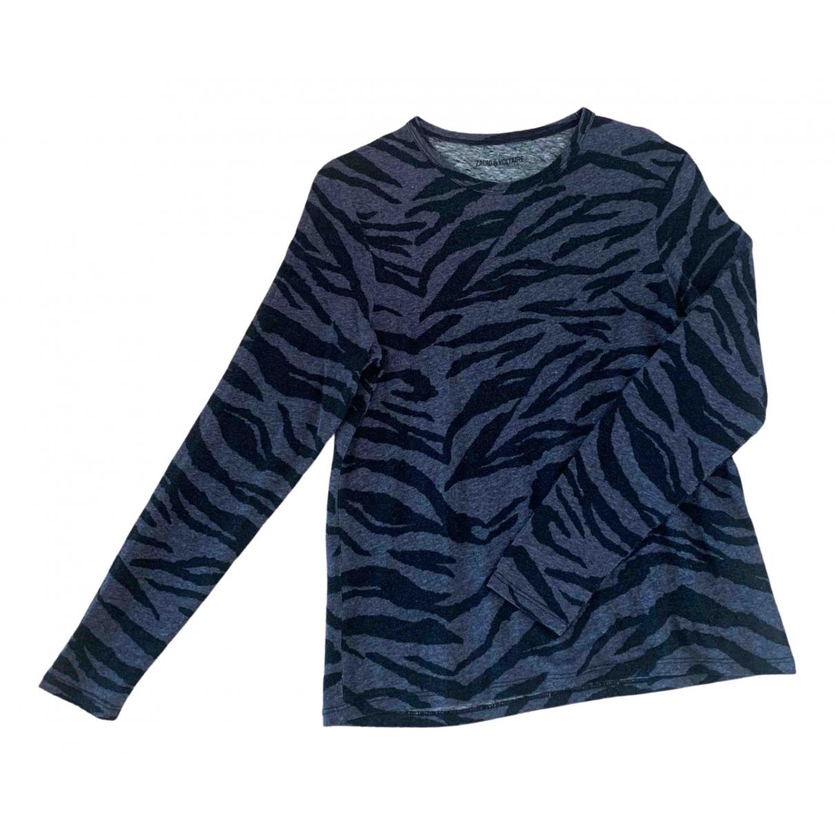 Zadig & Voltaire Fall Winter 2019 Grey Linen  top for Women S International