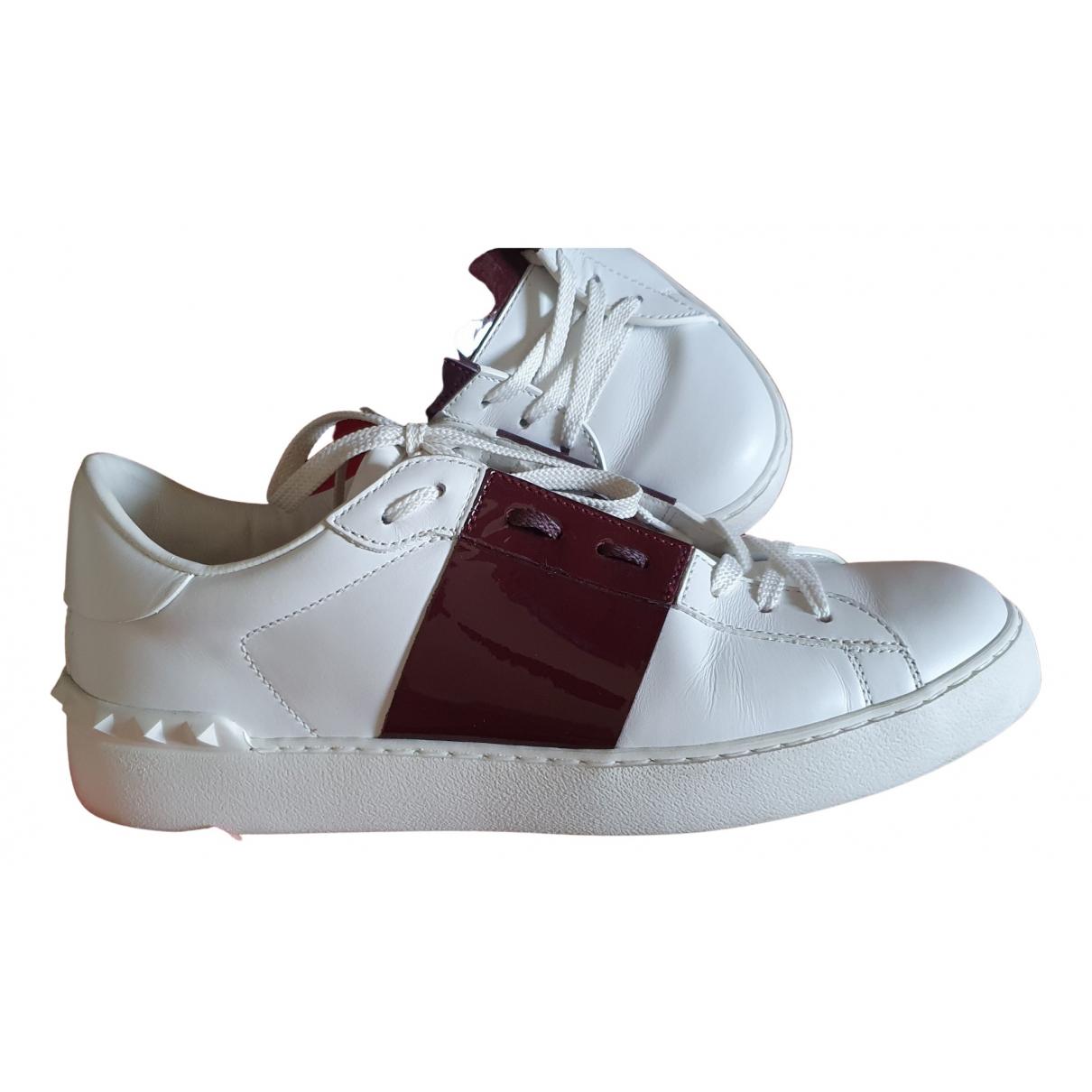 Valentino Garavani Open Sneakers in  Weiss Leder