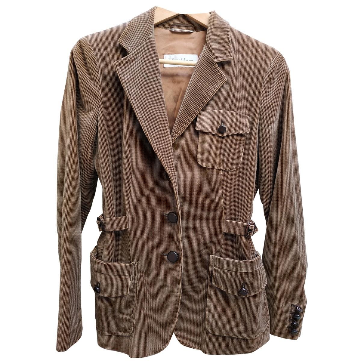 Max Mara - Veste   pour femme en coton - marron