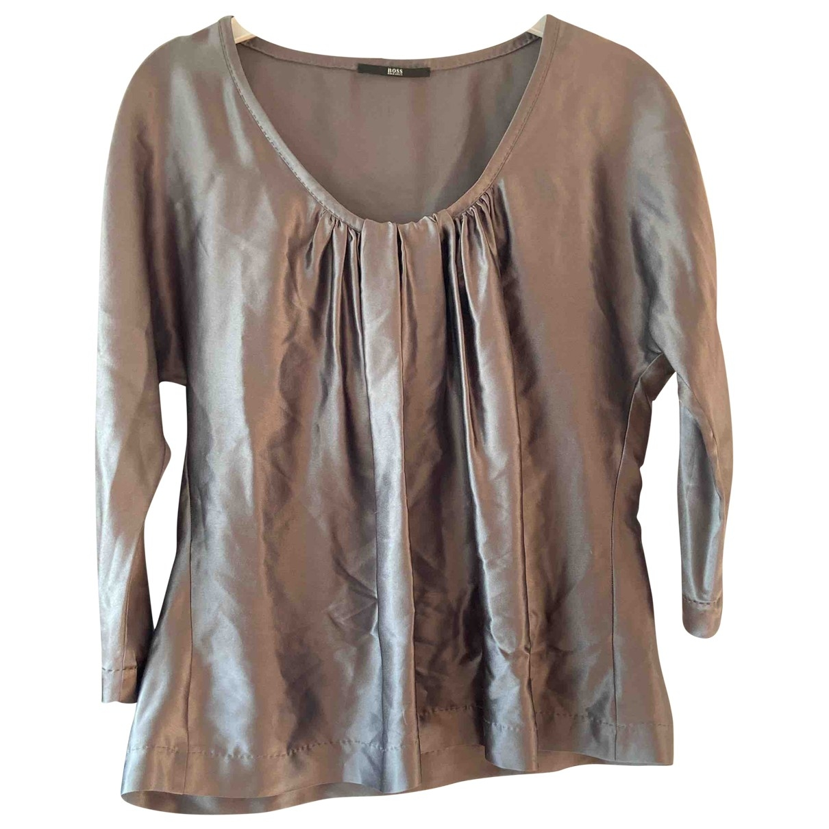 Boss \N Grey Silk  top for Women 48 IT