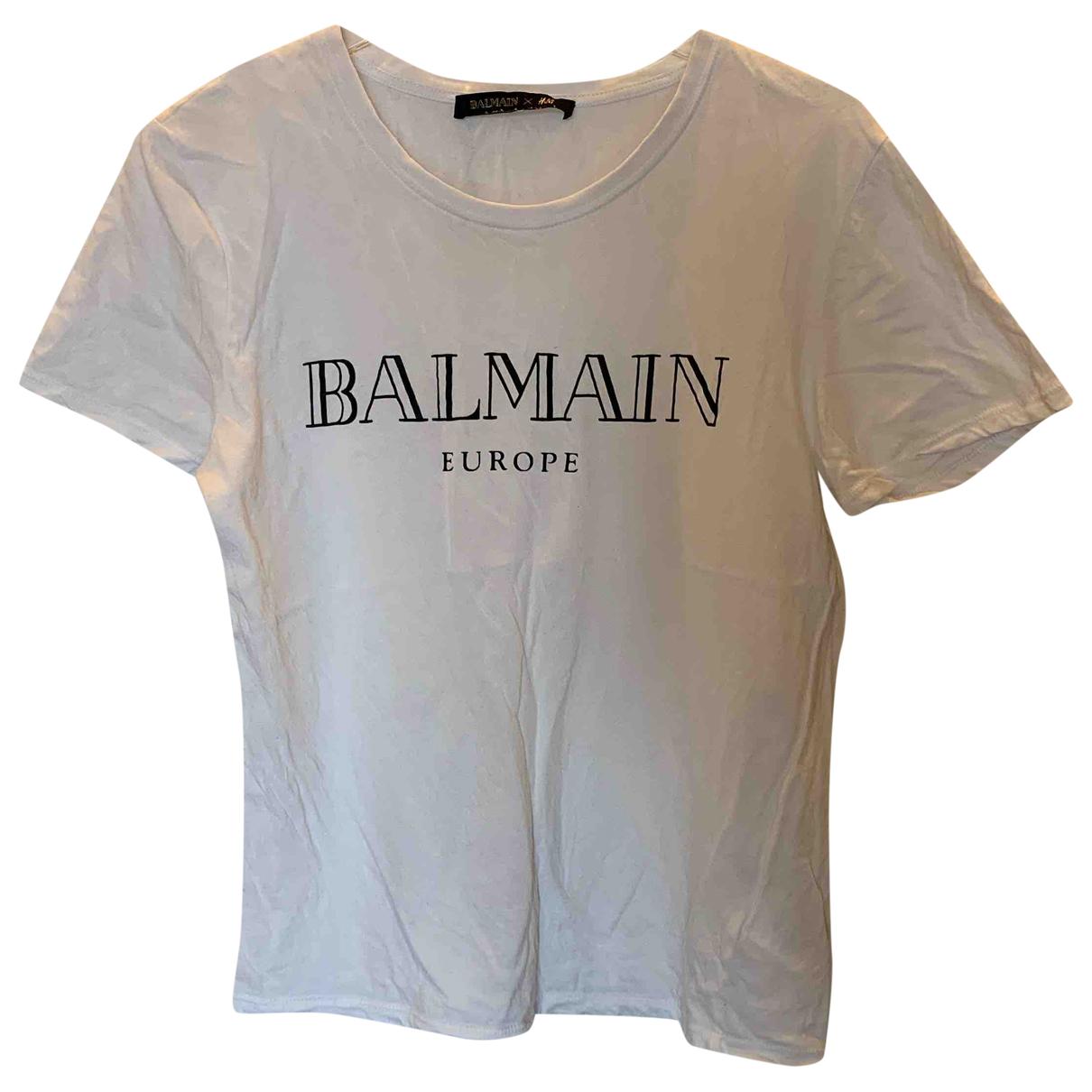 Balmain For H&m \N Top in  Weiss Baumwolle