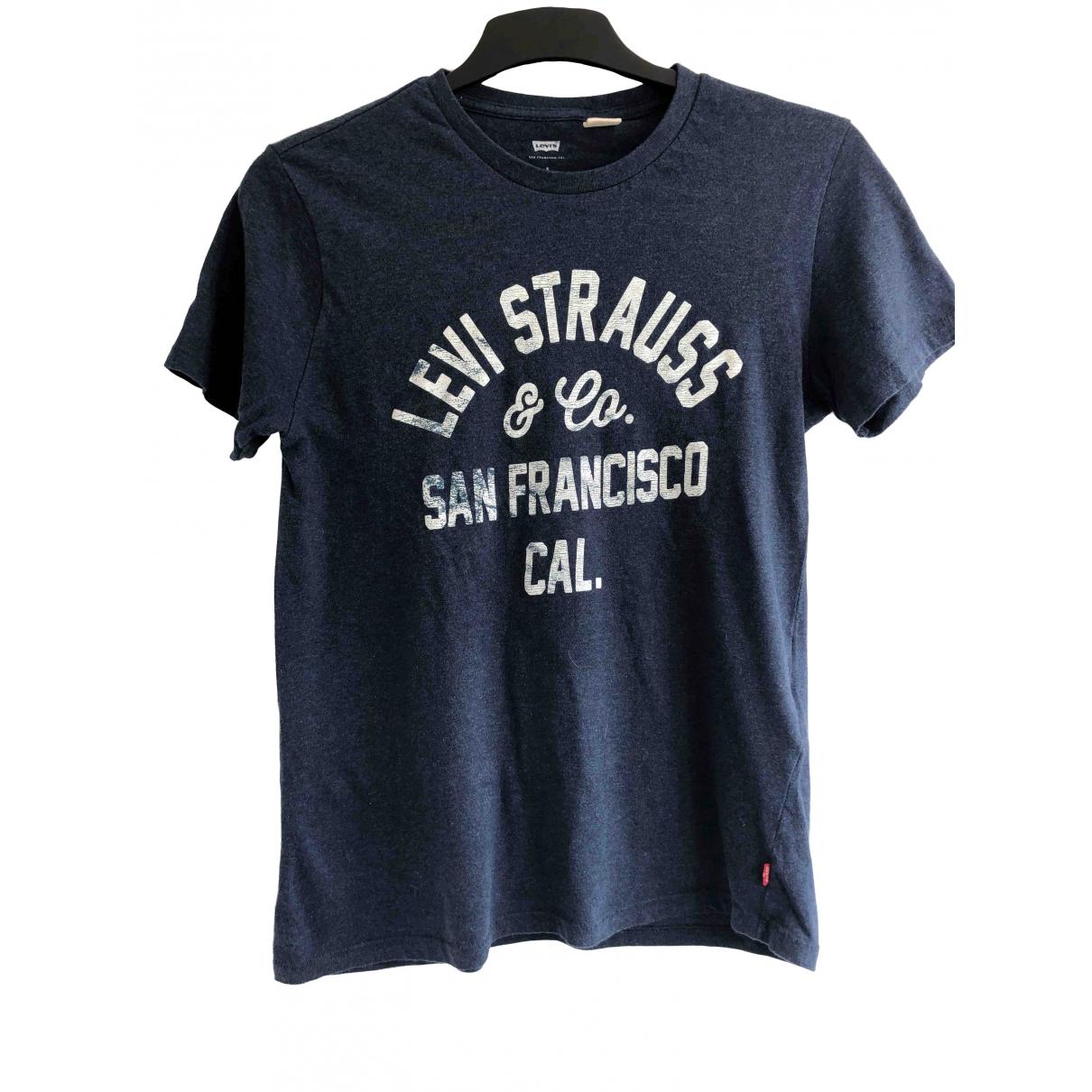 Levis - Tee shirts   pour homme en coton - bleu