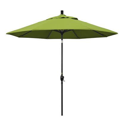 GSPT908302-5429 9' Pacific Trail Series Patio Umbrella With Stone Black Aluminum Pole Aluminum Ribs Push Button Tilt Crank Lift With Sunbrella 2A