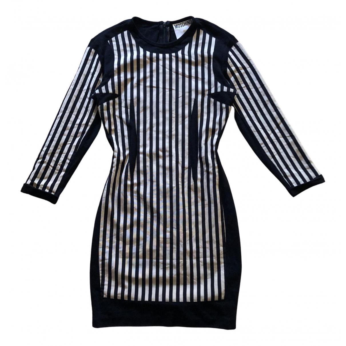 Moschino - Robe   pour femme en coton - noir