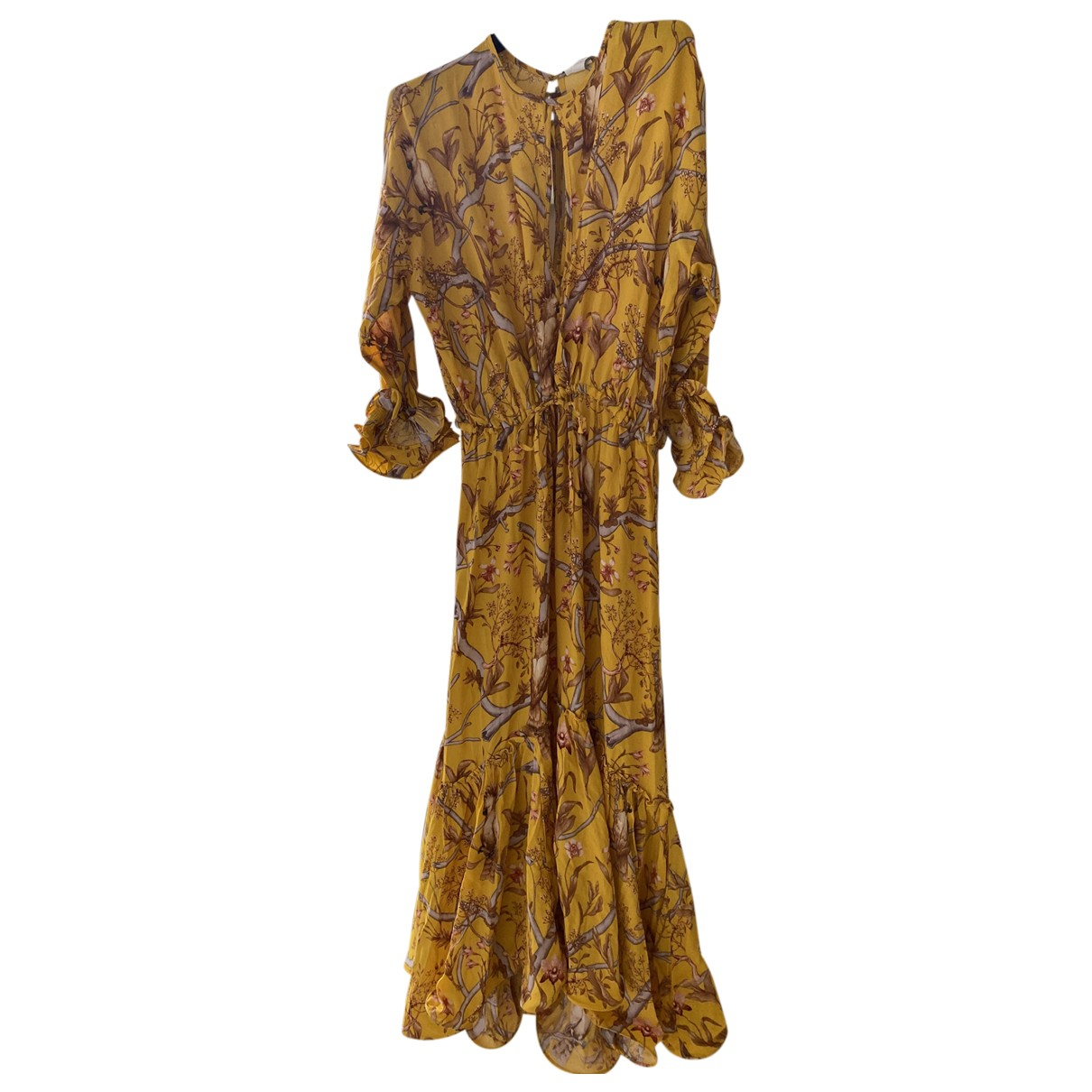 Johanna Ortiz X H&m \N Yellow Cotton dress for Women 8 UK