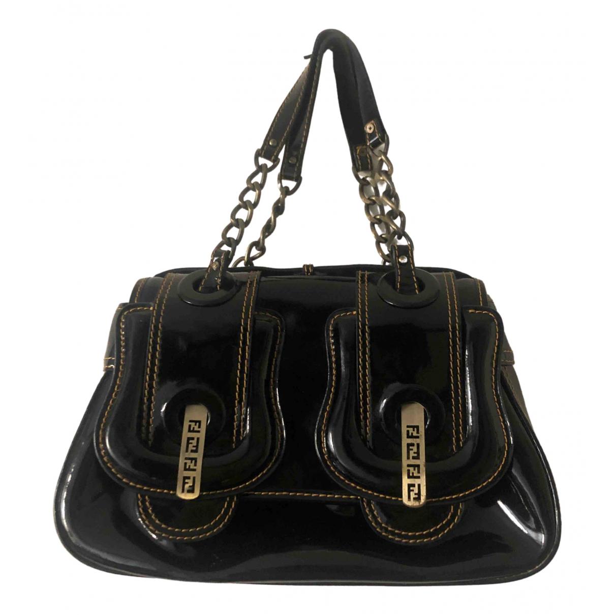 Fendi B Bag Black Patent leather handbag for Women \N