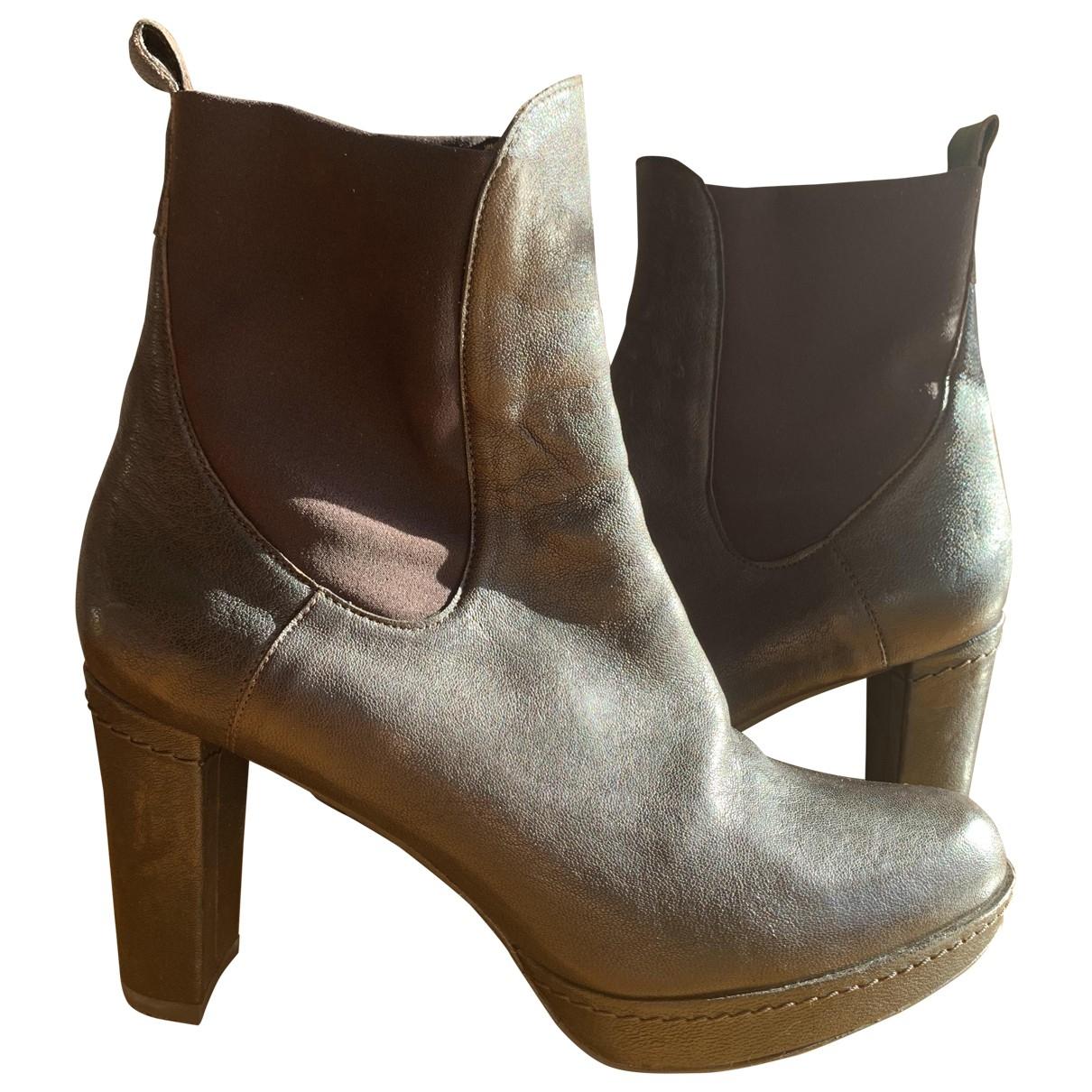 Stuart Weitzman - Boots   pour femme en cuir - marron
