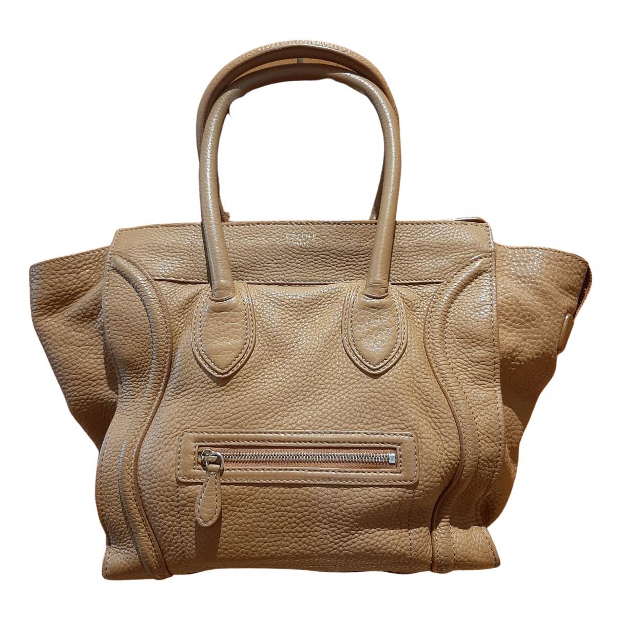 Celine Luggage Handtasche in  Kamel Leder