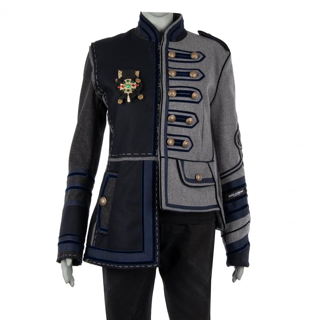 Dolce & Gabbana \N Blue Wool jacket for Women 42 IT
