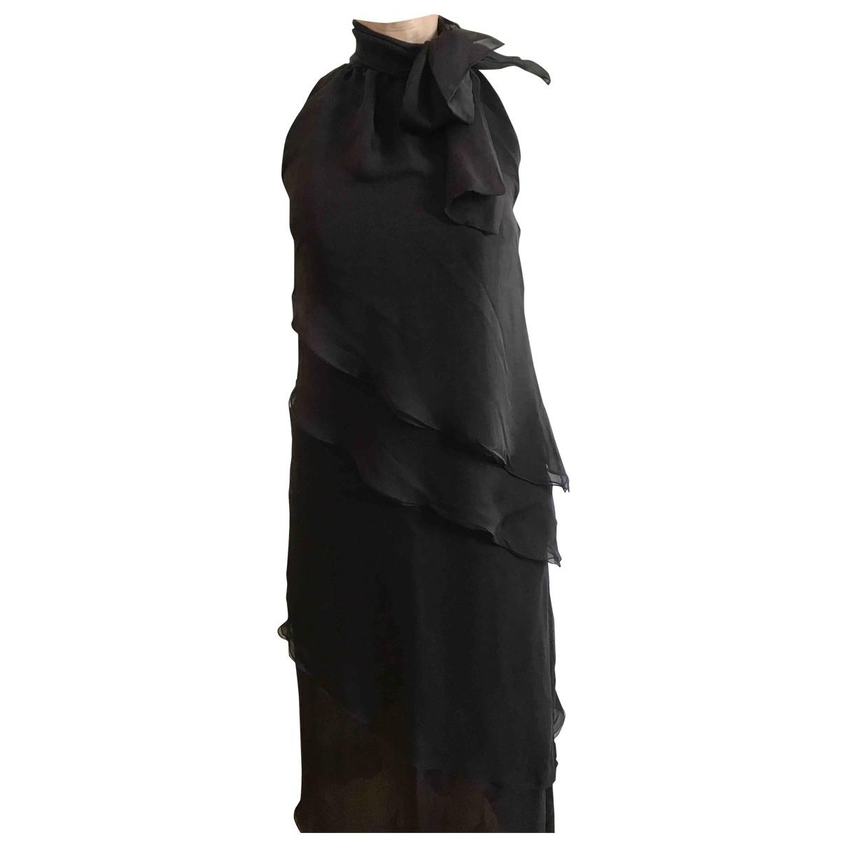 Valentino Garavani \N Kleid in  Braun Seide