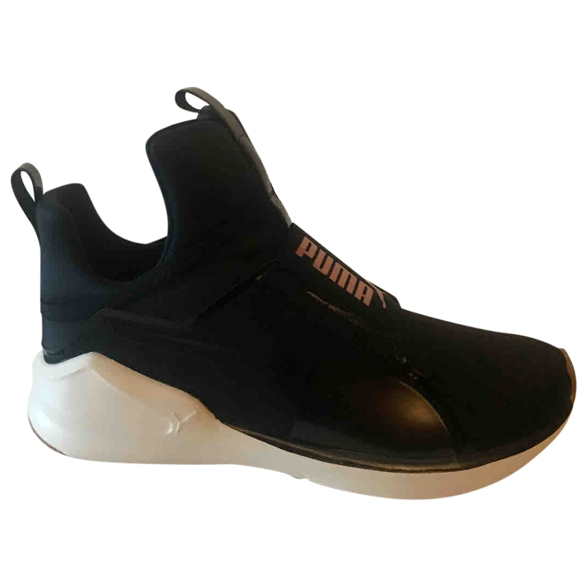 Puma \N Black Cloth Trainers for Women 37 IT