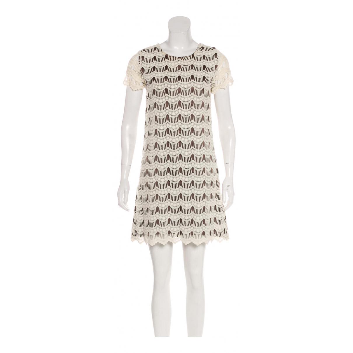 Kate Spade \N Kleid in  Khaki Baumwolle