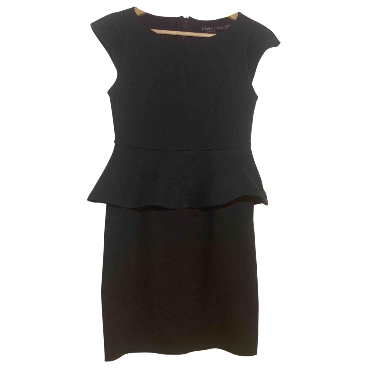Alice & Olivia - Robe   pour femme en coton - elasthane - noir