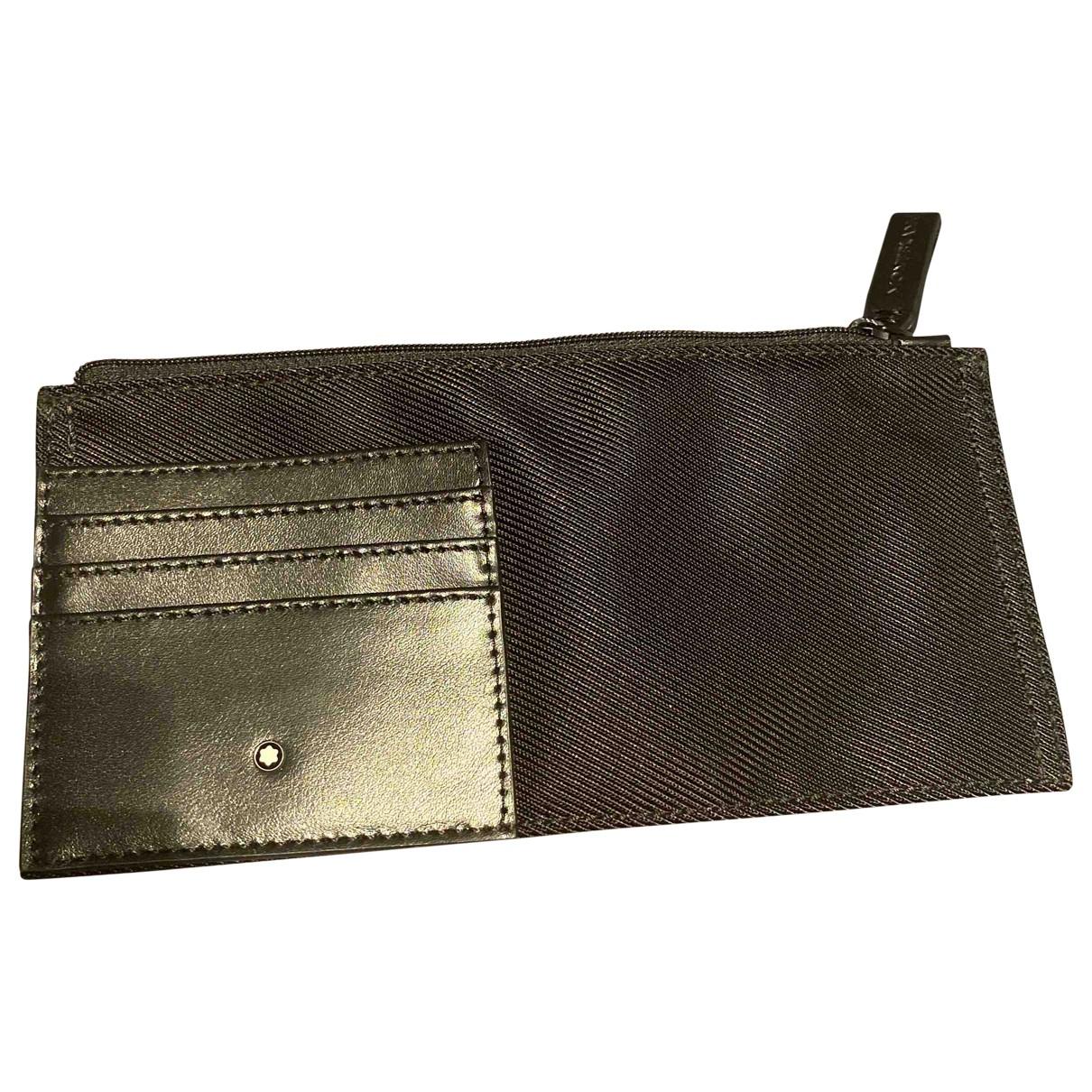 Montblanc \N Black Cloth Small bag, wallet & cases for Men \N