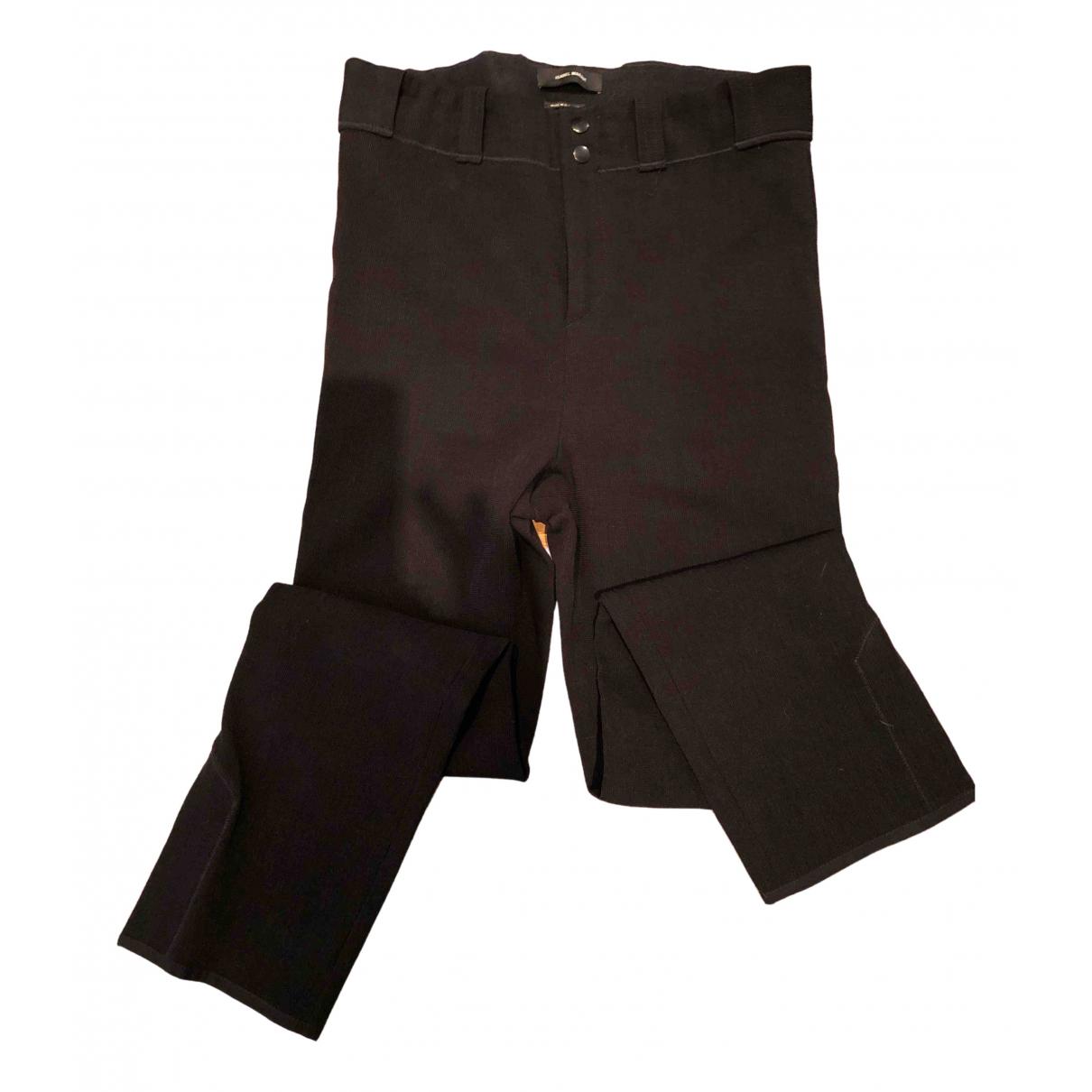 Isabel Marant N Black Spandex Trousers for Women M International