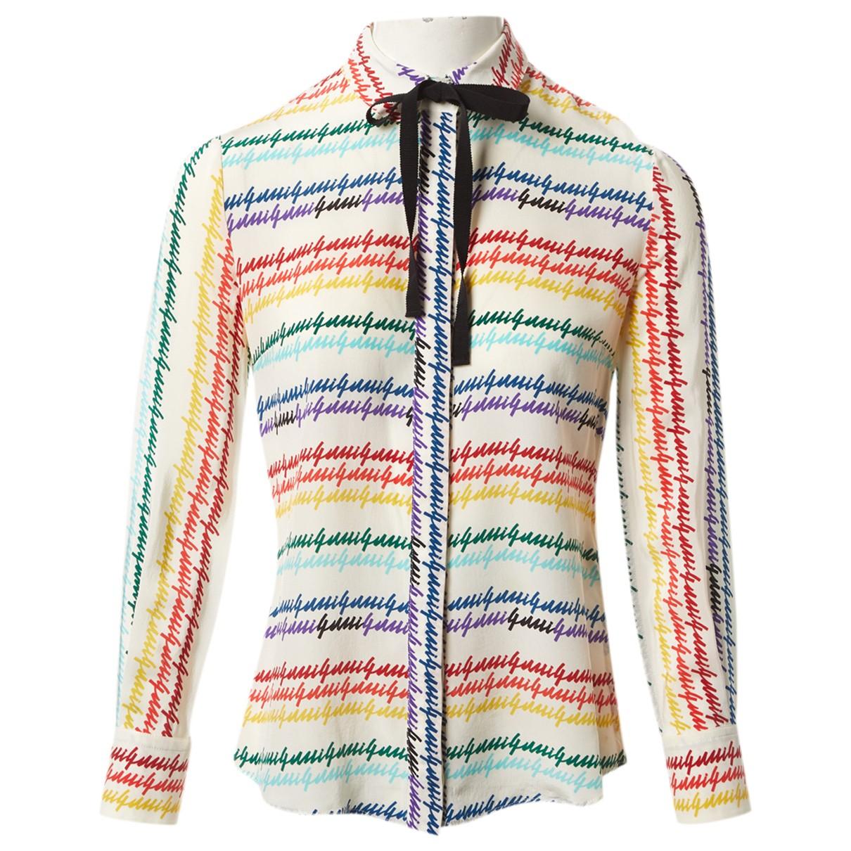 Gucci \N Ecru Silk  top for Women 38 IT