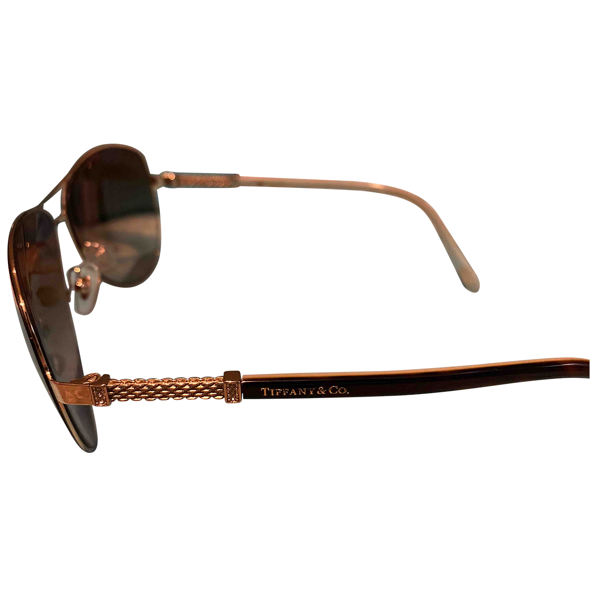 Tiffany & Co N Brown Metal Sunglasses for Women N