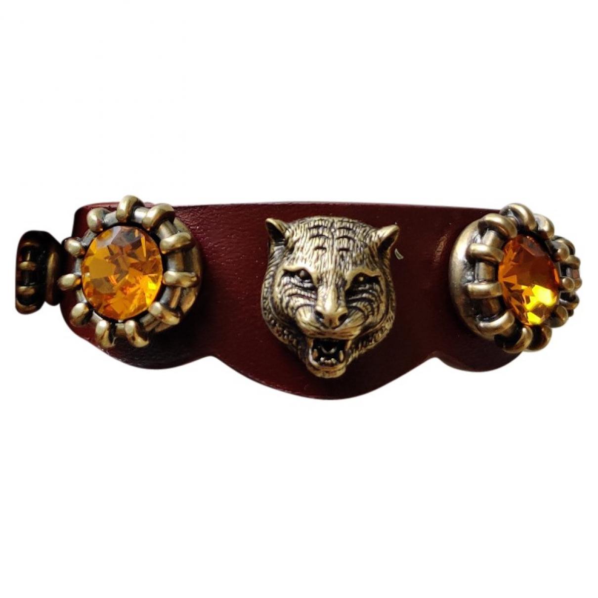 Gucci - Bracelet   pour femme en cuir - marron