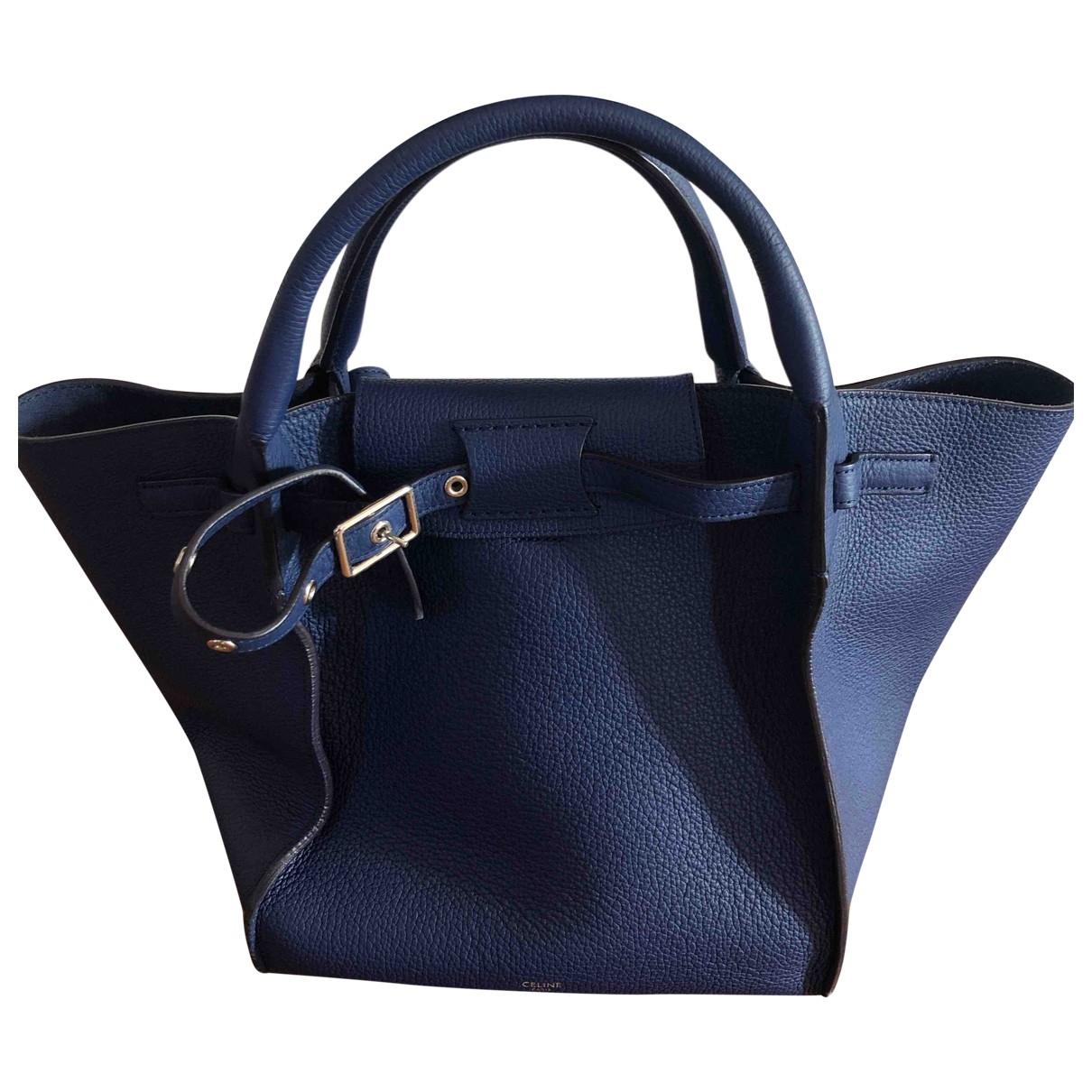 Celine Big Bag Blue Leather handbag for Women \N