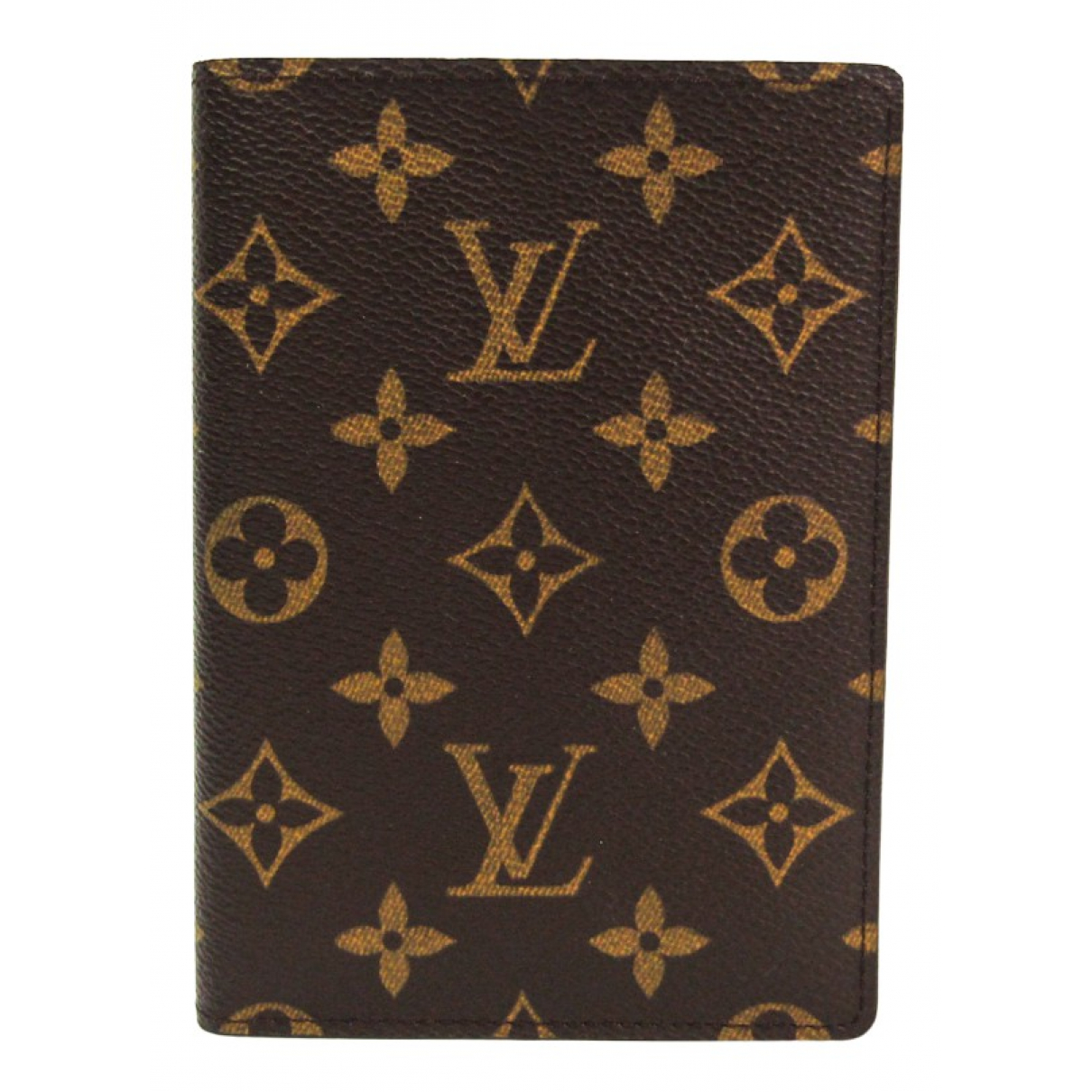 Louis Vuitton \N Portemonnaie in  Braun Leinen