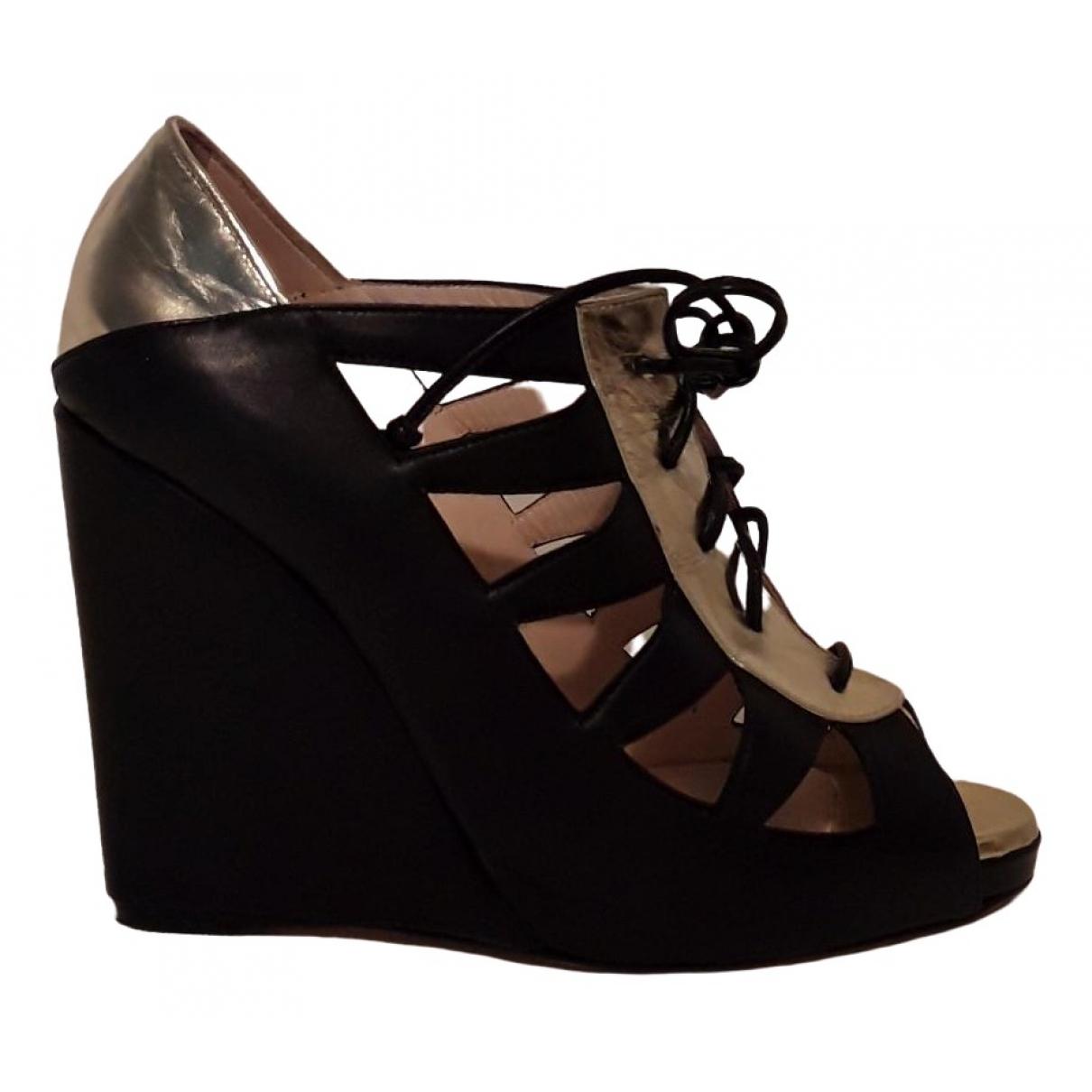 Hôtel Particulier \N Black Leather Heels for Women 39 EU