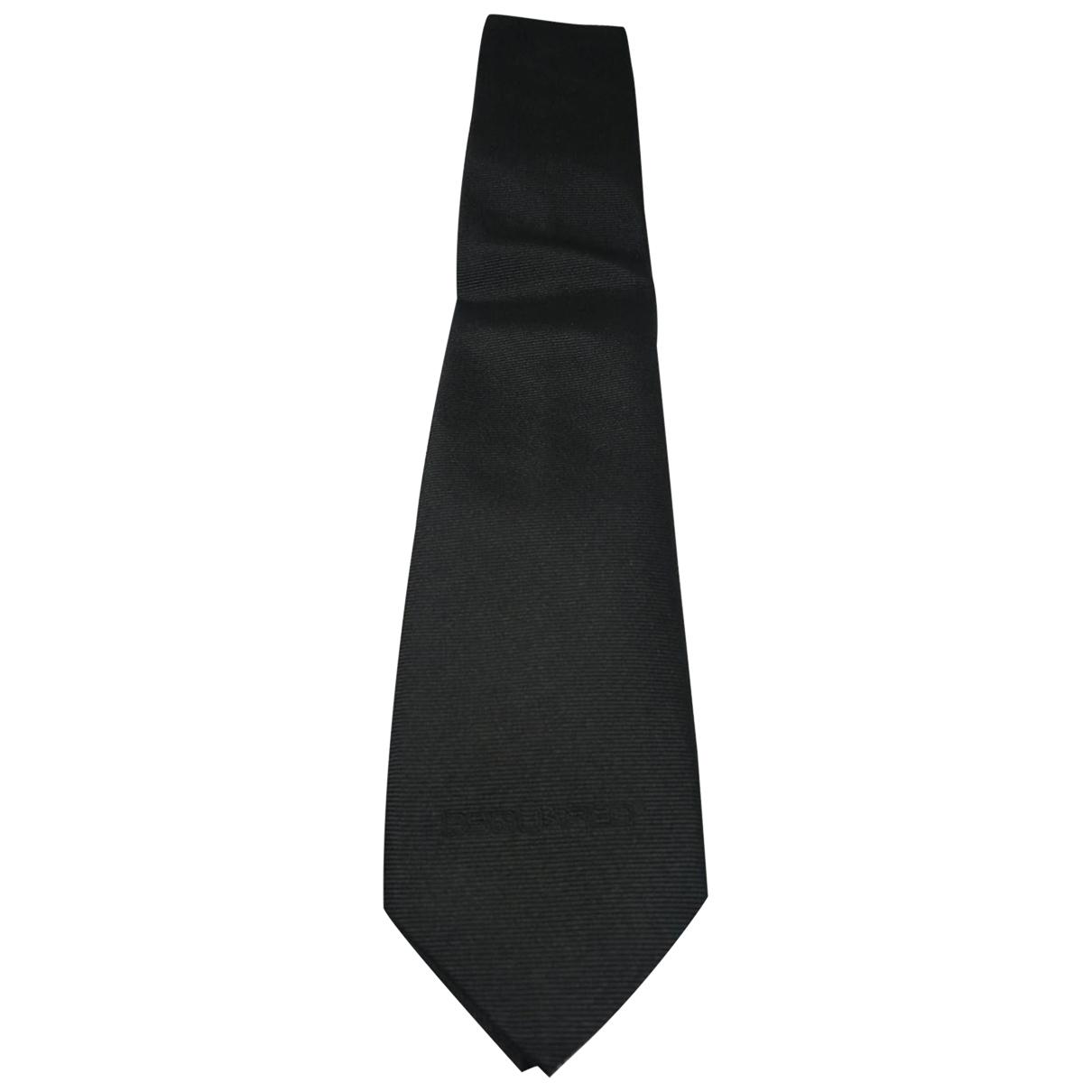 Dsquared2 \N Krawatten in  Schwarz Seide