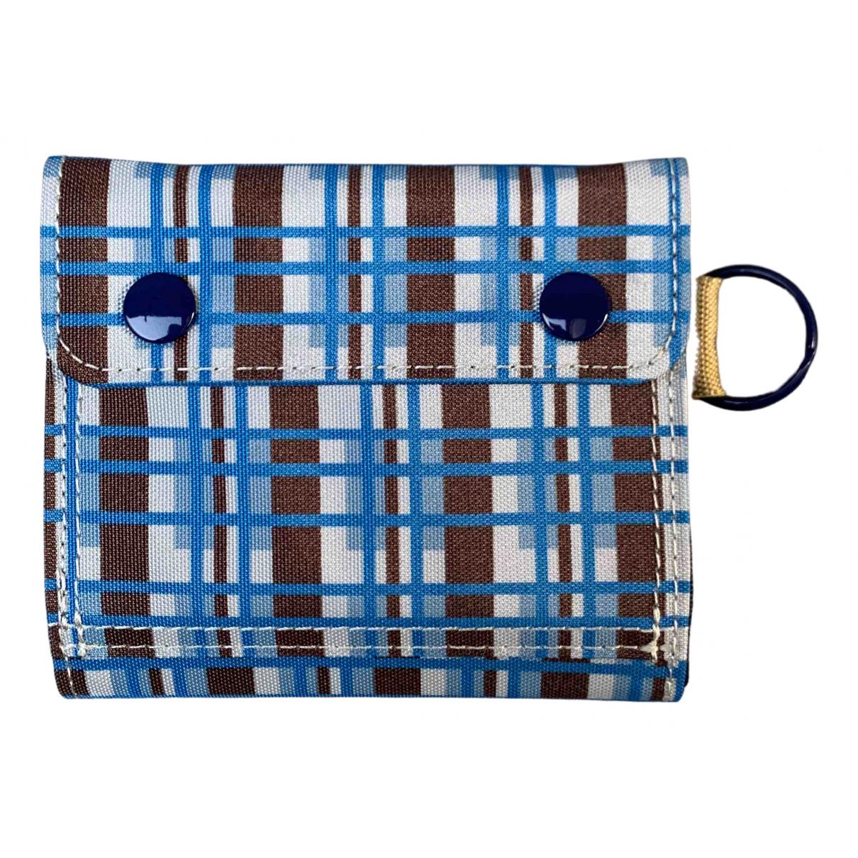 Marni - Petite maroquinerie   pour homme en toile - bleu