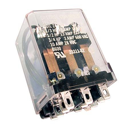 Deltrol , 240V ac Coil Non-Latching Relay 3PDT, 13A Switching Current Plug In, 3 Pole