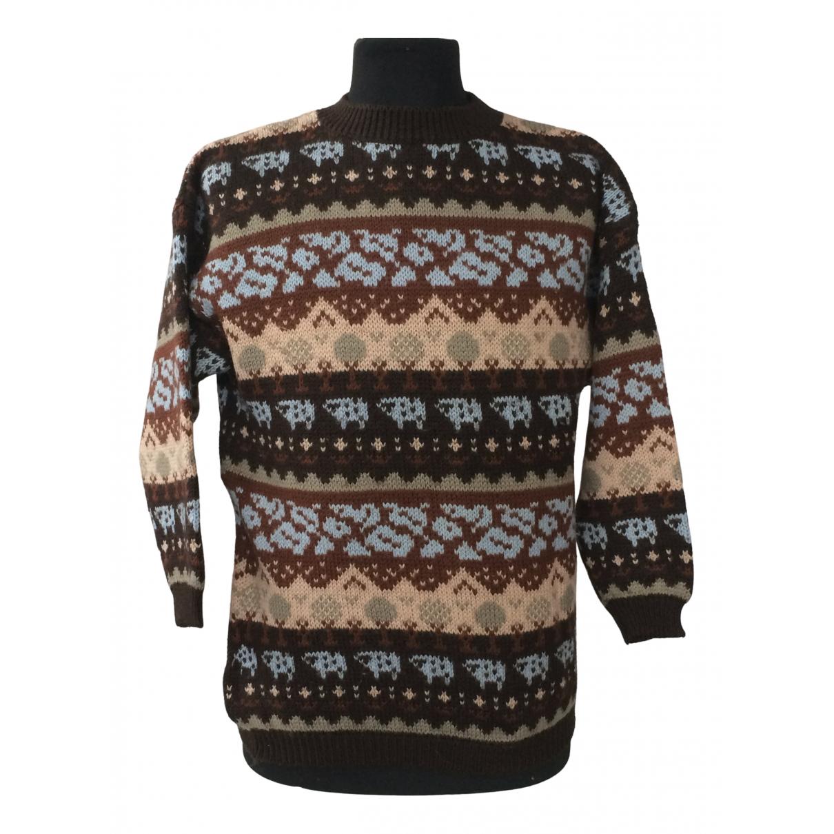 Benetton - Pulls.Gilets.Sweats   pour homme en laine - multicolore