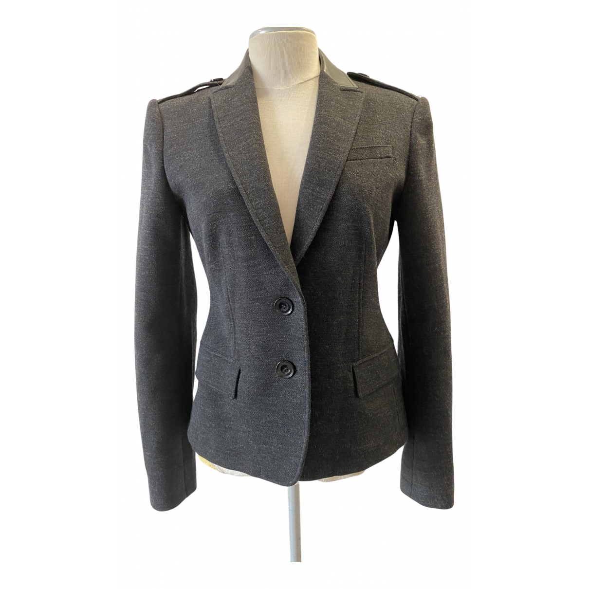Burberry \N Grey Wool jacket for Women 42 IT