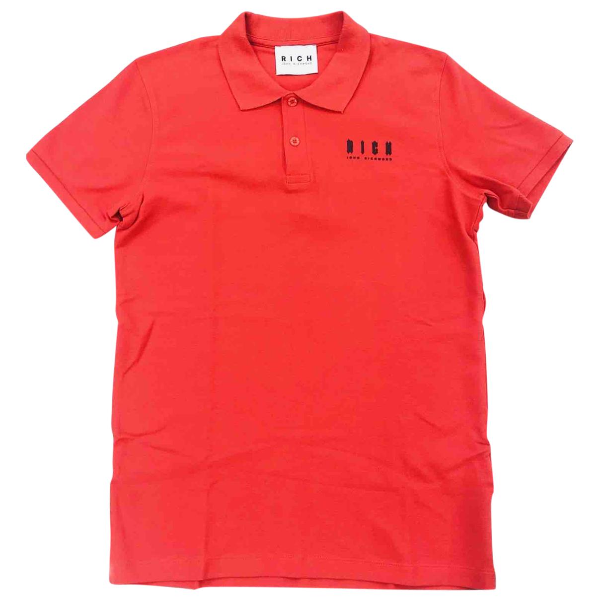John Richmond \N Poloshirts in  Rot Baumwolle