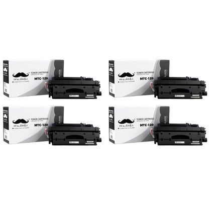 Compatible Canon 120 cartouche de toner noire- Moustache - 4/paquet