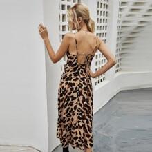 Cami Kleid mit Muster und Band hinten