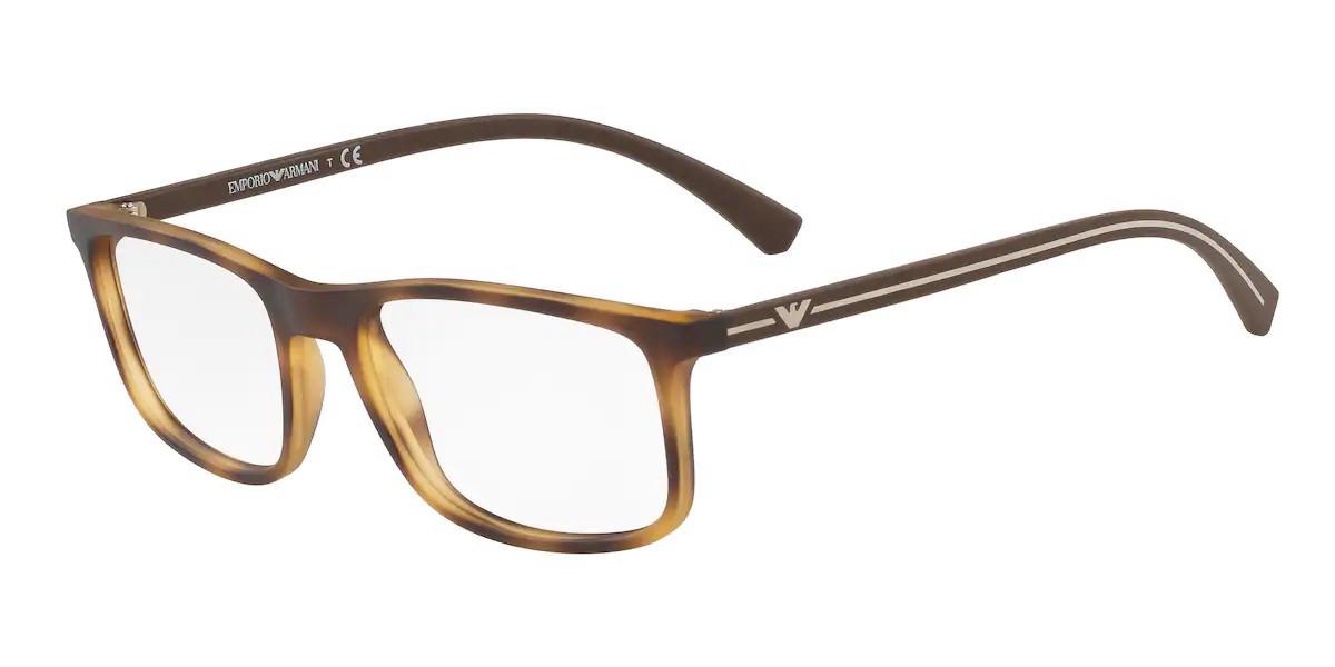 Emporio Armani EA3135 5089 Men's Glasses Tortoise Size 53 - Free Lenses - HSA/FSA Insurance - Blue Light Block Available